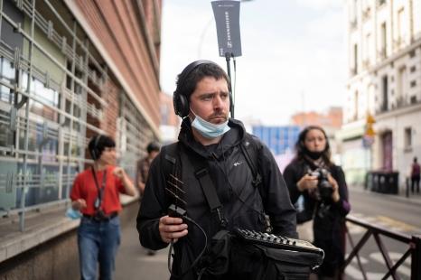 Ambulation at Sonic Protest - Photo: Vincent Ducard